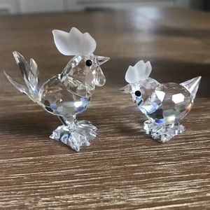 Swarovski Rooster and Hen